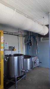 Lüftungsschlauch in einer Käserei - CAT 3000 Dr. Knopf & Oswald GmbH